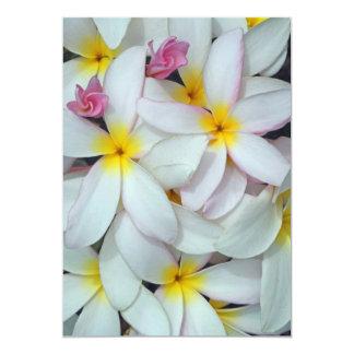 "Hawaiian  Plumeria 5"" X 7"" Invitation Card"