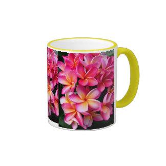 Hawaiian Plumeria Coffee Mugs