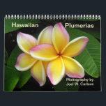 "Hawaiian Plumerias Calendar<br><div class=""desc"">Hawaiian plumeria photography by Joel W. Carlson of Honolulu,  Hawaii. Photographed at Koko Crater Botanical Garden,  Oahu.</div>"