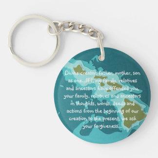 Hawaiian prayer Double-Sided round acrylic keychain