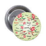 Hawaiian Print Button