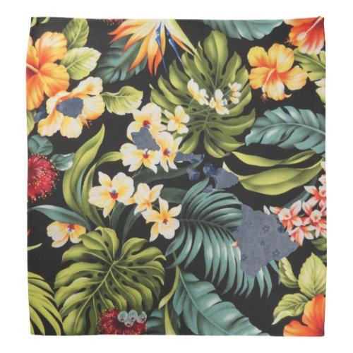 Hawaiian Print  Floral Hawai State Bandana