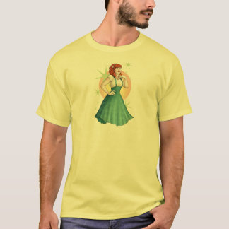 Hawaiian-Print Rockabilly Pinup Girl T-Shirt