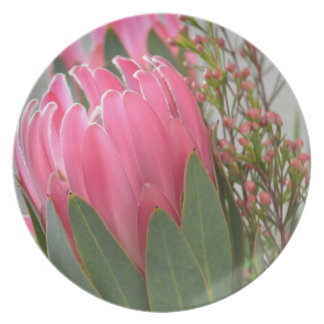 Hawaiian Protea Flowers Dinner Plate