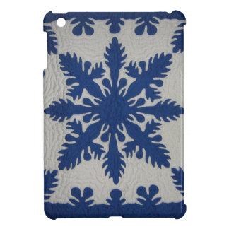 Hawaiian Quilt Blue iPad Mini Cover