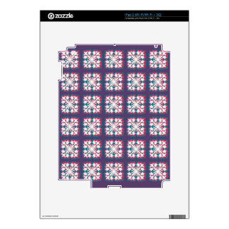 Hawaiian Quilt Pattern Electronics Case Decals For The iPad 2