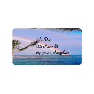 Hawaiian Rainbow Beach Address Label