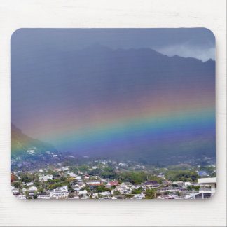 Hawaiian rainbow mouse pad