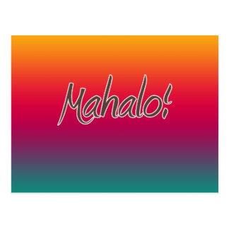 Hawaiian Rainbow Thank You Postcard