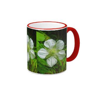 Hawaiian Raspberry Blossom Ringer Mug