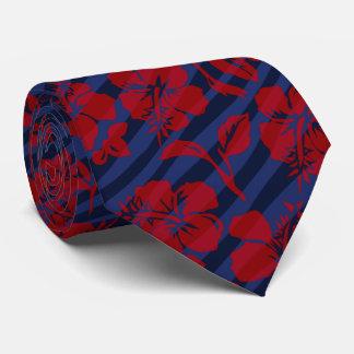 Hawaiian rayado 2 del hibisco del vintage echado a corbatas personalizadas