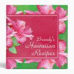 "Hawaiian Recipes 1.5"" Binder Pink Hibiscus"