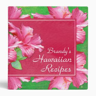 Hawaiian Recipes 1 5 Binder Pink Hibiscus