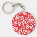 Hawaiian Red Flowers Key Chain