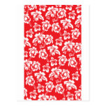 Hawaiian Red Flowers Postcard