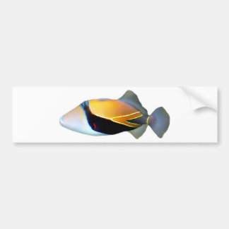 Hawaiian Reef Trigger Fish Bumper Sticker
