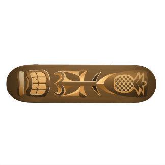 Hawaiian Rest Totem  Statue Skateboard Deck