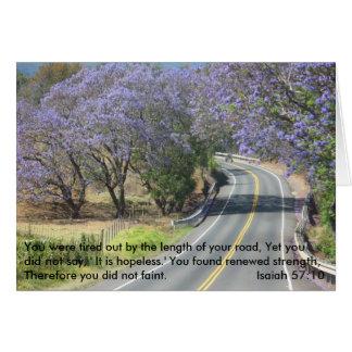 Hawaiian Road Note Card w/Verse