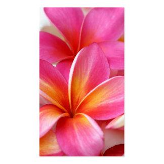 Hawaiian rosado de la flor de Hawaii del Frangipan Tarjetas De Visita