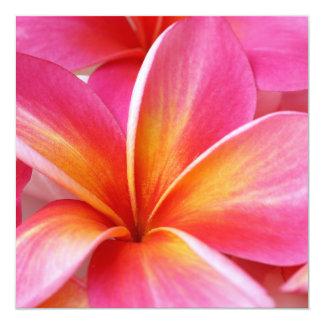 """Hawaiian rosado de la flor de Hawaii del Invitación 5.25"""" X 5.25"""""""