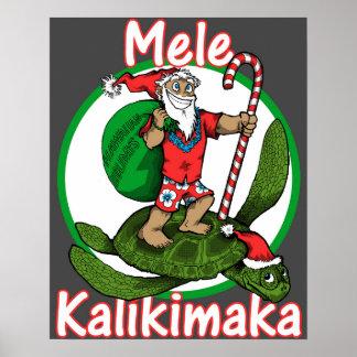 Hawaiian Santa Poster