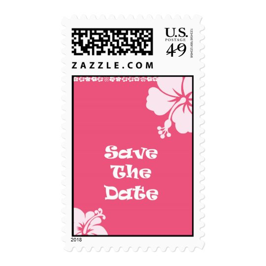 Hawaiian Save The Date Postage