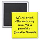 Hawaiian Sayings Magnet