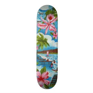 Hawaiian Scene Skate Board
