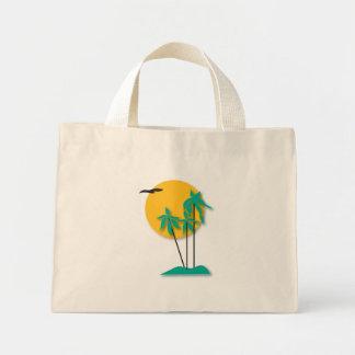 Hawaiian Scene Tote Bag Mini Tote Bag