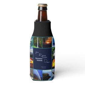Hawaiian scenes bottle wrap bottle cooler
