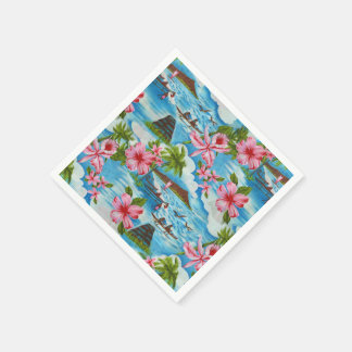 Hawaiian Scenes Paper Napkin