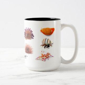 Hawaiian Sea Creatures, Special Edition Two-Tone Coffee Mug