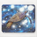 Hawaiian sea turtle art prints mouse pad