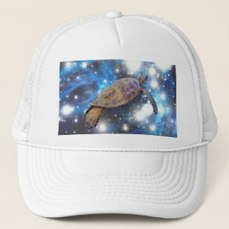 Hawaiian sea turtle art prints trucker hat