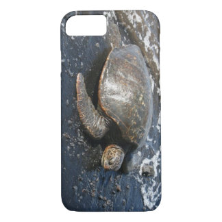 Hawaiian Sea Turtle Black Sand Beach iPhone 7 Case