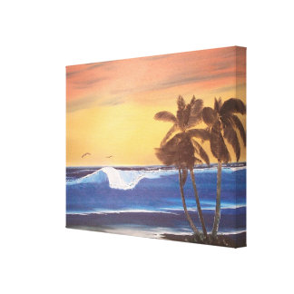 Hawaiian Seascape Oil Painting Canvas Print