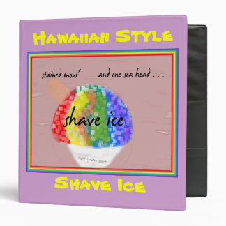 Hawaiian Shave Ice Binder - customize it