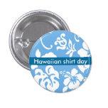 Hawaiian Shirt Day 1 Inch Round Button