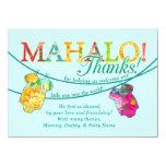 Hawaiian Shirt Onsie Luau Mahalo Thank You Card Custom Invitation