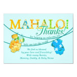 Hawaiian Shirt Onsie Luau Mahalo Thank You Card Custom Invite
