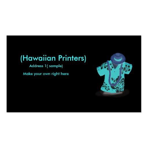 Hawaiian shirt profile card business card zazzle for Business cards for t shirt business