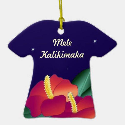 Hawaiian Shirts Shirt Ornament Mele Kalikimaka