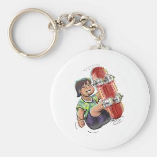 hAwAiiAn sKaTeBoArDeR Basic Round Button Keychain