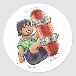 hAwAiiAn sKaTeBoArDeR Classic Round Sticker
