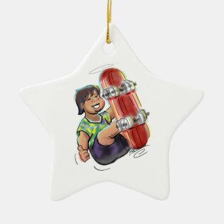 hAwAiiAn sKaTeBoArDeR Double-Sided Star Ceramic Christmas Ornament