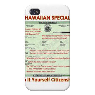 Hawaiian Special DIY Citizenship iPhone 4 Case
