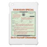 Hawaiian Special DIY Citizenship Transparent Backg iPad Mini Cover
