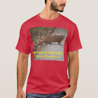 Hawaiian Squirrel (Asian Mongoose) Mens Dark Shirt