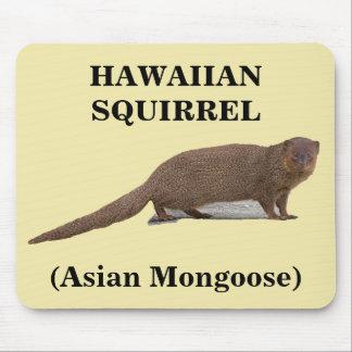 Hawaiian Squirrel (Asian Mongoose) Mousepad