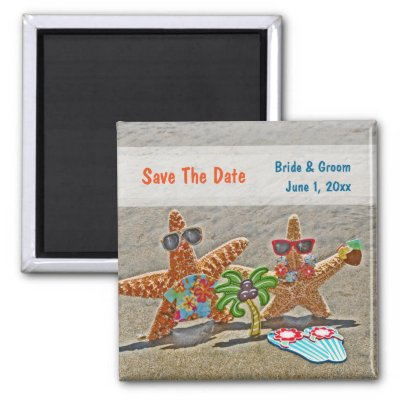 love and the beach wedding save date magnets zazzle com